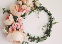 Coronas de flores para el cabello naturales y artificiales