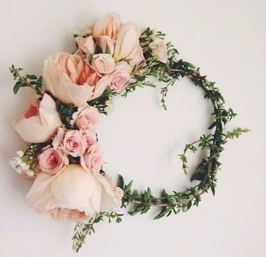 coronas de flores para el cabello artificiales