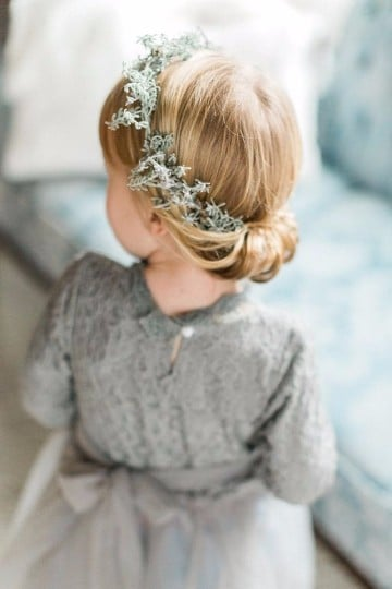 coronas de flores para el cabello niña
