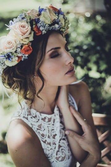 coronas de flores para el cabello paso a paso