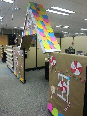 decoracion navideña para oficinas de trabajo
