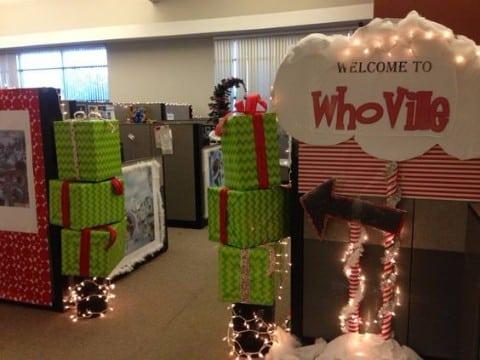 decoracion navideña para oficinas navidad