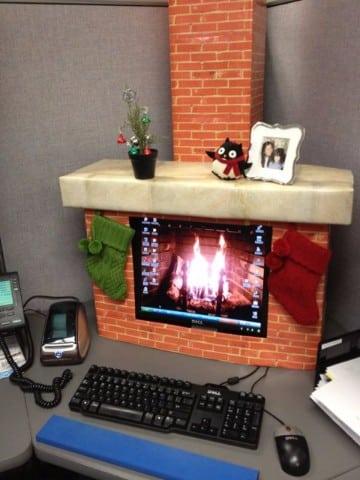decoracion navideña para oficinas pequeñas