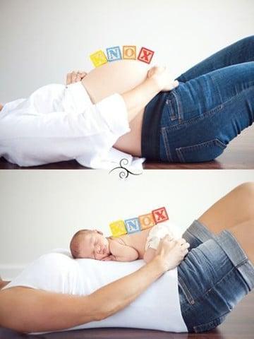 ideas para fotos de embarazadas estudio