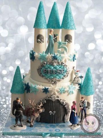 imagenes de pasteles de frozen con adornos