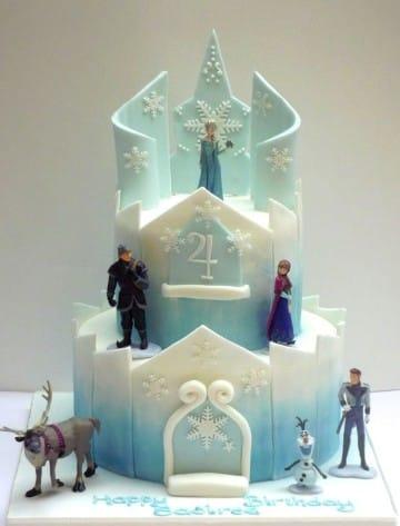 imagenes de pasteles de frozen de elsa