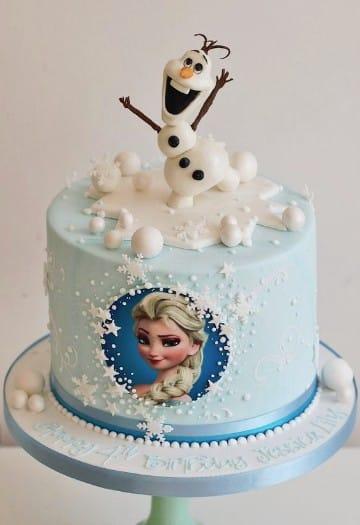 imagenes de pasteles de frozen un piso