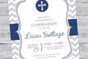 Lindas invitaciones para confirmacion para imprimir