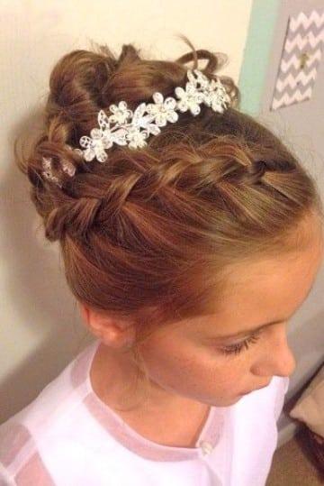 peinados para madrina de bautizo niñas