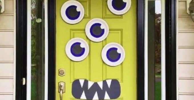Puertas decoradas dia de muertos centros de mesa para for Puertas de halloween decoradas