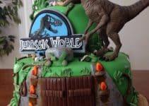 Fotos de como decorar tortas de dinosaurios infantiles