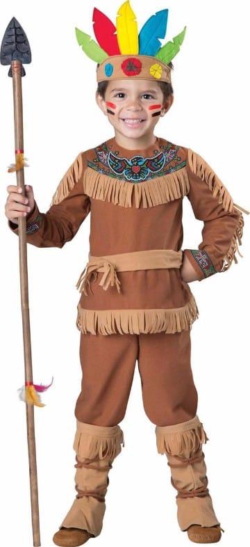 trajes de indios para niños faciles