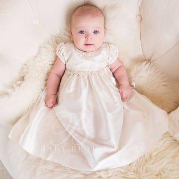 vestidos de bautismo para bebes de invierno