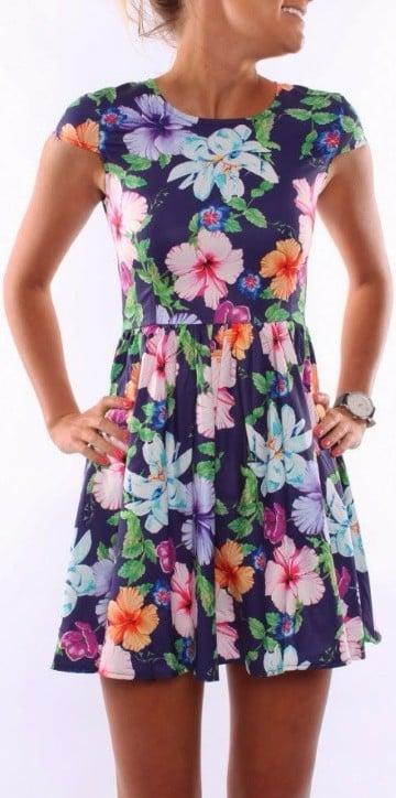 vestidos hawaianos para mujeres cortos