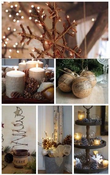 adornos navidenos rusticos caseros