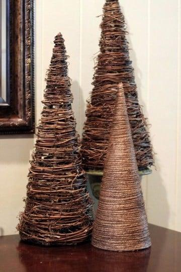 adornos navideños rusticos faciles