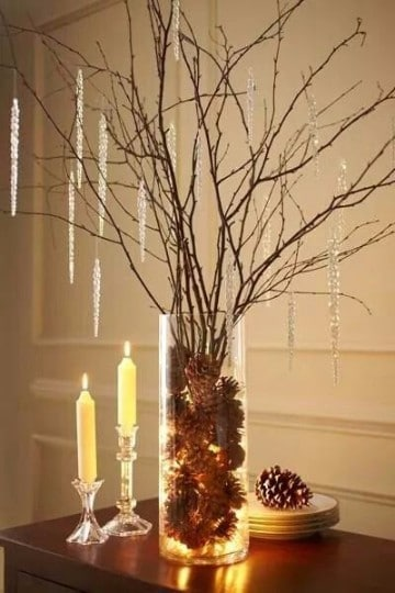 adornos navidenos rusticos para el hogar