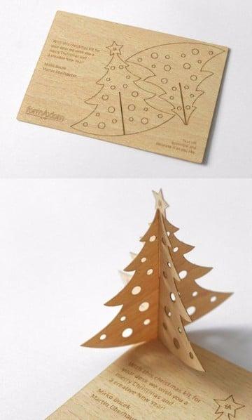 arbol de navidad de madera decorar