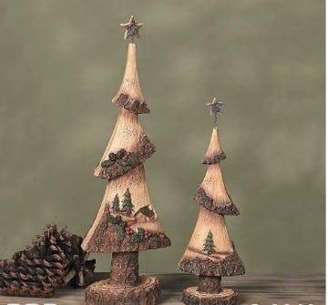 arbol de navidad de madera hecho