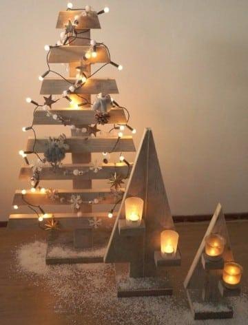 arbol de navidad de madera manualidades