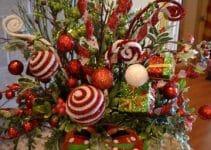 Manualidades de arreglos navideños para mesa sencillos