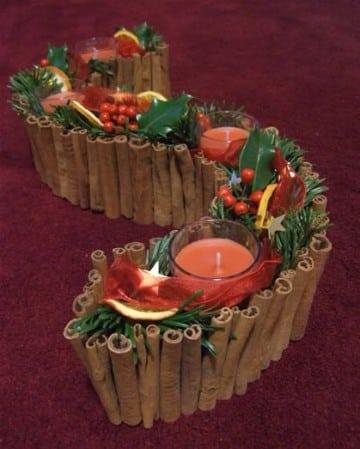 arreglos navideños para mesa de sala
