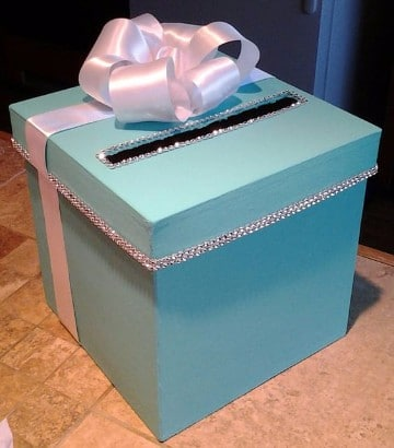 cajas decoradas para baby shower niño elegantes