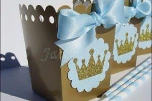 Imagenes de cajas decoradas para baby shower niño y niña