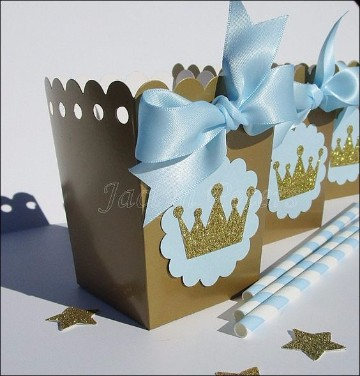 cajas decoradas para baby shower niño faciles