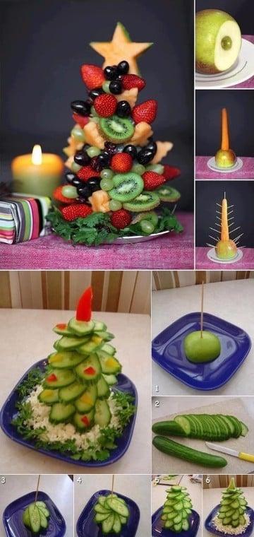 centros de mesa de frutas baby shower