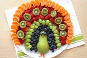 Centros de mesa de frutas para fiestas infantiles y XV