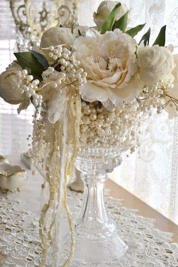 centros de mesa para bodas de oro matrimoniales
