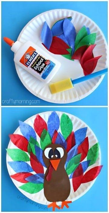 como decorar un pavo de papel ideas