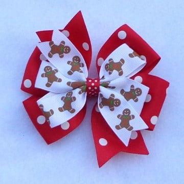 como hacer lazos de navidad faciles
