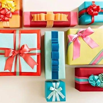 como hacer lazos de regalo de papel