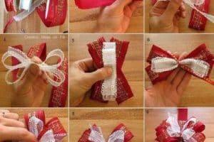 Como hacer moños con cinta de tela gratis y sencillos