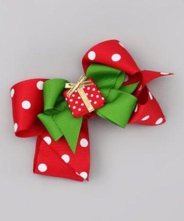 como hacer moños con cinta de tela para navidad