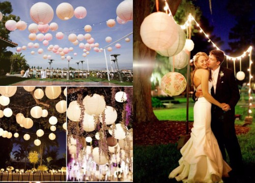 Decoraci n para bodas al aire libre en jardin de noche for Ambientacion para bodas