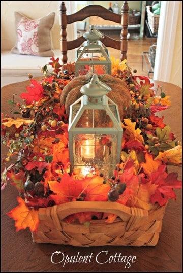 decoracion de accion de gracias mesa