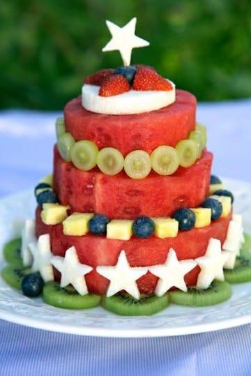 decoracion de frutas para fiestas infantiles