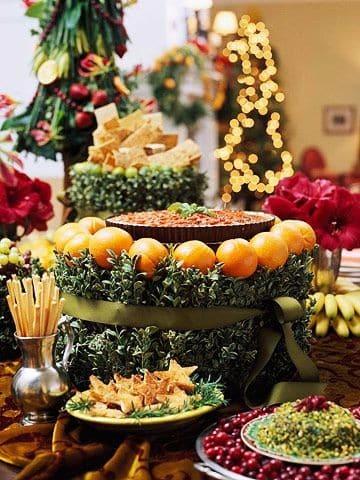 decoracion de frutas para fiestas mesas