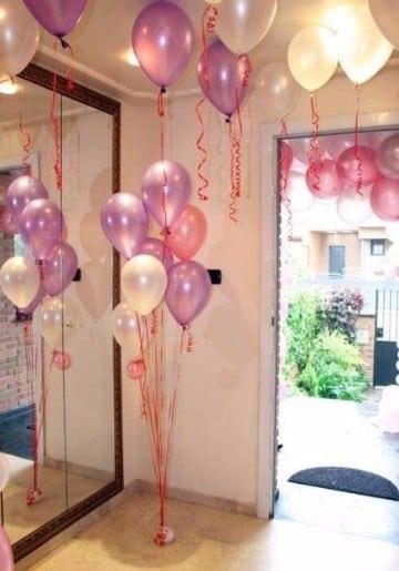 decoracion de globos para primera comunion 2016