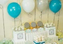 Decoracion de globos para primera comunion en casa
