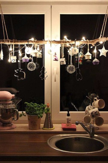 decoracion de ventanas navideñas en casa
