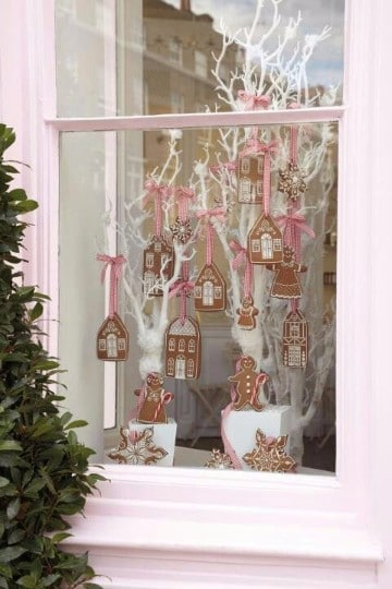 decoracion de ventanas navideñas exteriores