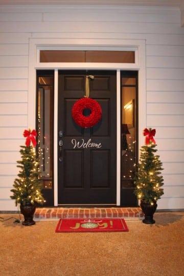decoracion navideña exterior 2016