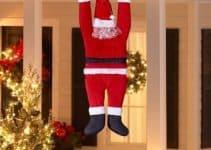 Linda decoracion navideña exterior para ventanas y puertas