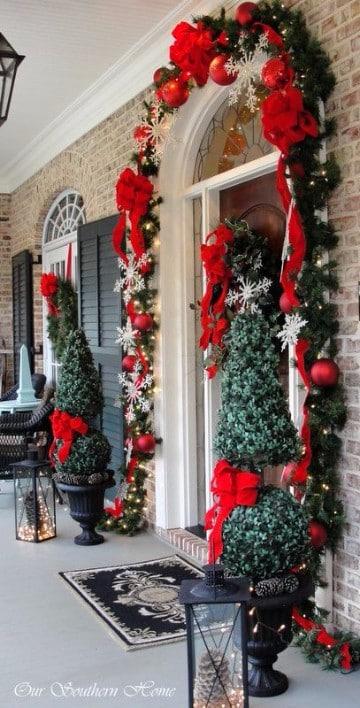 decoracion navideña exterior fotos