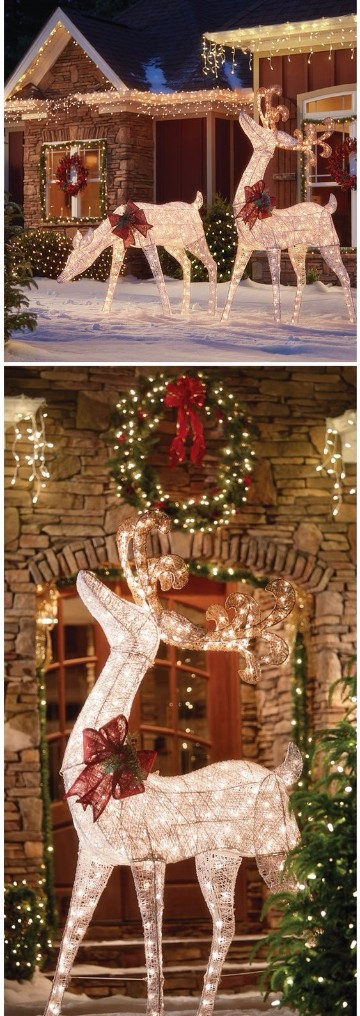 linda decoracion navide a exterior para ventanas y puertas