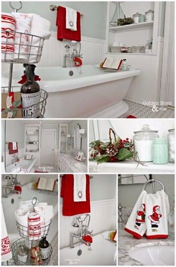decoracion navideña para baños 2016